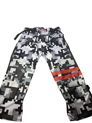 Line Pants Hockey In (Fang Inline Roller Hockey Pants Adult Senior (Digital Cammo Grey, Large))