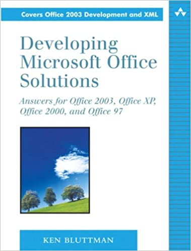 developing microsoft office solutions answers for office 2003