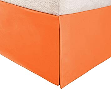 La Marque 500 fils 1 pièce Tour de lit Orange solide anglais Petite ...
