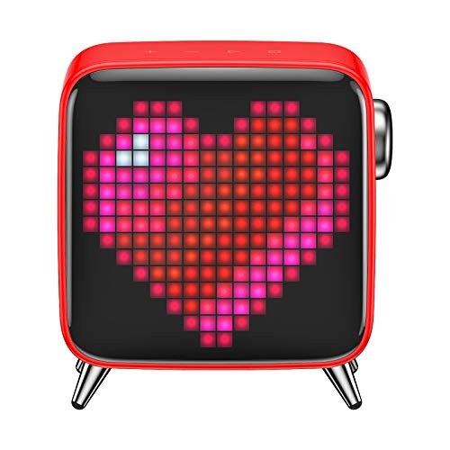 Divoom Tivoo Max Smart Portable Bluetooth LED Speaker with APP-Controlled Pixel Art Animation, Notification and Build- in Clock/Alarm, 6.42X7.26X3.39 inch (Black)