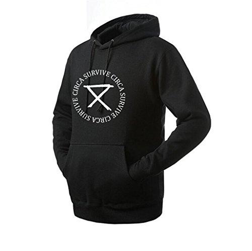 Destinyhand Unisex Survive Floral Funny Hoodie (Black XX-Large)