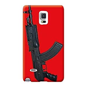 LeoSwiech Samsung Galaxy Note 4 Scratch Protection Mobile Covers Custom Nice Ak47 Pistol Series [kwn19343fnMY]