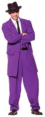 SALES4YA Adult-Costume Zoot Suit Adult Costume Purple Standard Halloween Costume -