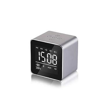 Altavoz Bluetooth Mini Viaje Portátil Alarma De Espejo De ...