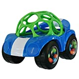 Bright Starts OBall 1-Piece Rattle & Roll Car, Assorted Colors