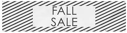 CGSignLab Fall Sale 12x3 Stripes White Heavy-Duty Outdoor Vinyl Banner