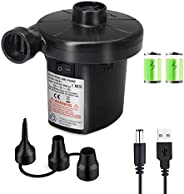 QDH Rechargeable USB Electric air Pump, Perfect inflator/deflator Pumps Quick-Fill Portable Pump with 3 nozzle