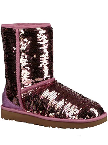 c Short Sequin Fashion Boot Pink 8 M US ()
