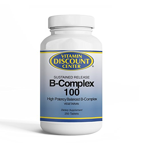 (Vitamin Discount Center B-Complex 100mg, Sustained Release, 250)