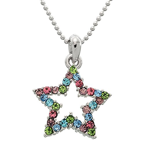 Hollowed Gem Star Necklace (Rock Sweatshirt Zip Star)