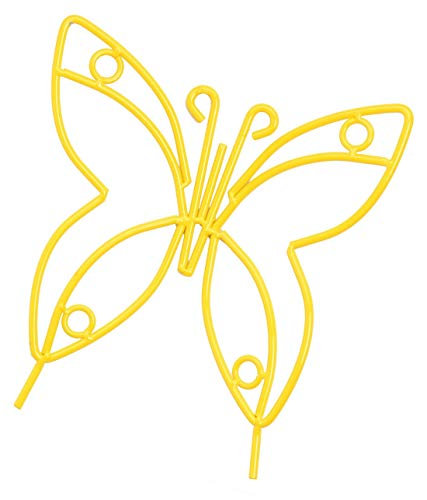 Wrought Iron Garden Yellow Powder Coated Butterfly - Perfect for Hanging on Porch or Over Garden 10