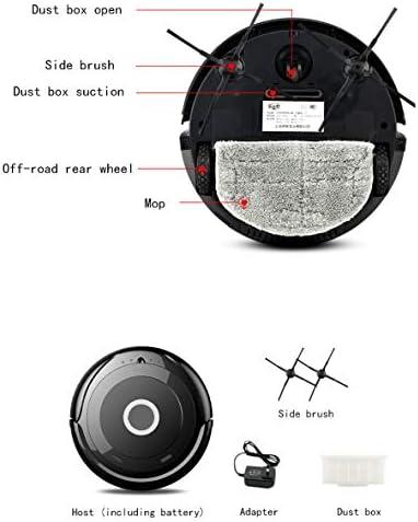 Intelligent Protection antichute Robot de Balayage Très Mince Super Sound-Off Forte Absorption d\'eau Aspirateur Convient aux planchers de Bois Franc aux Tapis Moyens
