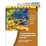 An Introduction to Management Science Quantitative Approaches to Decision Making 13th Thirteenth Revised Edition By Anderson Sweeney Williams Camm and Martin (Book Only) Hardcover, Anderson Sweeney Williams Camm Martin, 1111532249