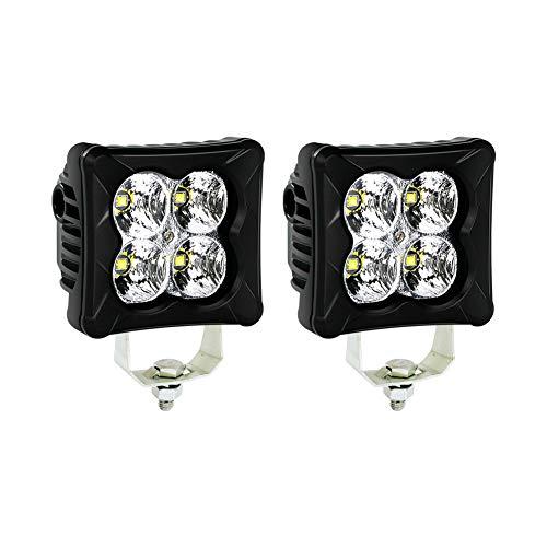 Led Light Cubes (4WDKING LED Pods Flood Light Bar - 2PCS 40W CREE LED Off Road Work Light Truck Fog Lamp Tail Light IP69K Waterproof ATV Cube)