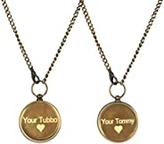 Your Tommy Your Tubbo Compass Necklaces - 2 pcs working compass lockets - MCYT, Dream SMP, TommyInnit, Compass