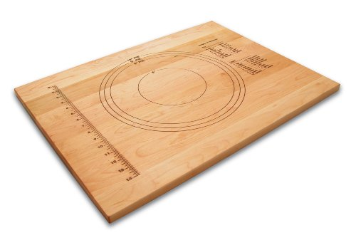 "Snow River USA 7V03152 Hardwood Maple Pastry and Pie Board, Embossed, 18"" x 24"" x .75"""