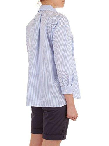 Donna Oxford Blue Camicia Woolrich Xs Wwcam0662 Stripe vqxUHR0
