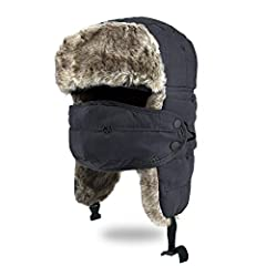 Winter Trooper Trapper Hat, Using for Motorcycles, Cycling, Camping, Climbing, Hiking, Snowboarding, FishingSpecification:Name: Winter Trooper Trapper HatApplicable: UnisexFabric: Peach velvet fabric (Not Waterproof)Lining: Faux FurWeight: 14...