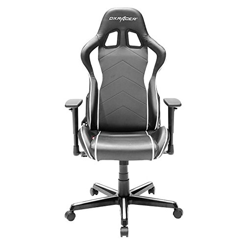 DXRacer OH/FH08/NW Formula Series Black and White Gaming Chair – Includes 2 free cushions and Lifetime warranty on frame For Sale