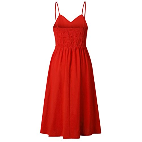 Taille Sexy Femmes t Robe Haute Rouge6 Chic Chic SANFASHION Vest Tops Cute OBtAqn