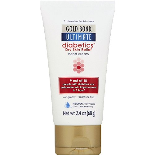Gold Bond Diabetics' Dry Skin Relief Hand Cream, 2.4 Ounces each (Value Pack of 3)