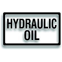 Barrel, Drum or Pump Decal Label - HYDRAULIC OIL Sticker for Car Truck Service Work Shop Garage 6 1/2 x 12 1/4 inch in BLACK