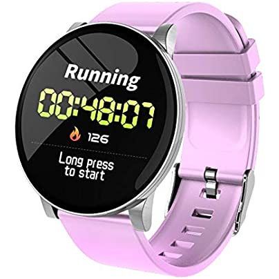 DishyKooker Smart Bracelet IP67 Waterproof Activity Tracker Fitness Band Blood Pressure Monitor Heart Rate Wristband Pink Estimated Price £13.07 -