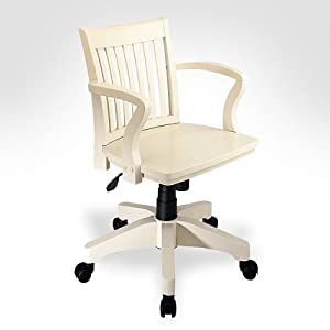 office star wood bankers chair in antique white