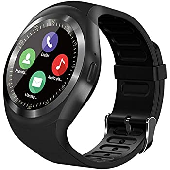 Amazon.com: Smart Watch, SN05 Smartwatch Round Sport Watch ...