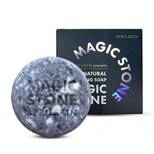 April-Skin-Magic-Stone-Black-Soap-90g-1pcs-Cleansing-Soap-100-Natural-Soap