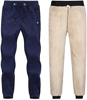 Weentop Pantalones de chándal Forrados para Hombre Pantalones de ...