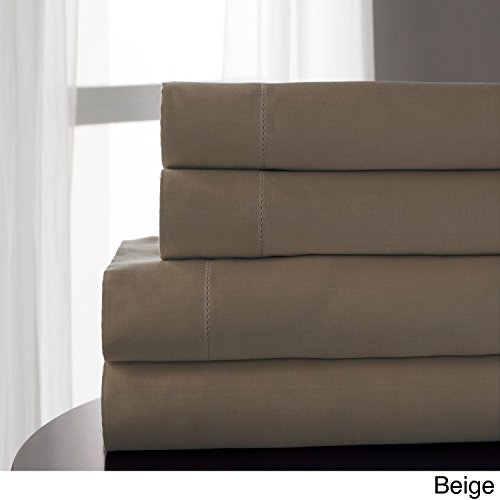 Elite Home Products Tencel Blend 800 Thread Count Sheet Set Beige King