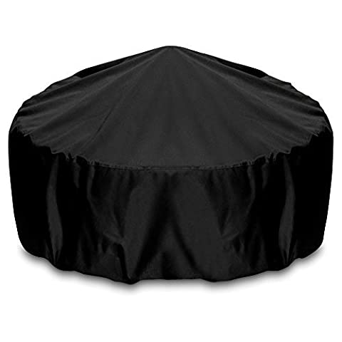 Smart Living Fire Pit Cover, 80-Inch, Black by Two Dogs Designs (Two Dogs Designs Fire Pit Cover)