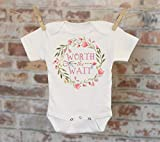 Worth The Wait Wreath Onesie®, Rainbow Baby Onesie, Reveal Onesie, Fall Onesie, Funny Onesie, Cute Onesie, Boho Baby Onesie
