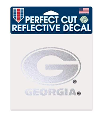 - Wincraft NCAA University of Georgia Bulldogs Reflective Perfect Cut Decal t, 6 x 6, Silver