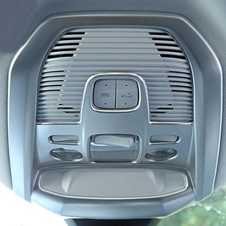 Cubierta de lámpara de techo de ABS mate para parte delantera y trasera de lectura, 2 piezas para accesorios de coche: Amazon.es: Coche y moto