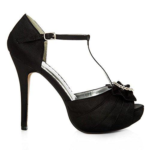Mujer De Miss Negro Tacón Zapatos Diva wqwAYIz