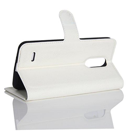 Funda LG K4(2017),Manyip Caja del teléfono del cuero,Protector de Pantalla de Slim Case Estilo Billetera con Ranuras para Tarjetas, Soporte Plegable, Cierre Magnético A