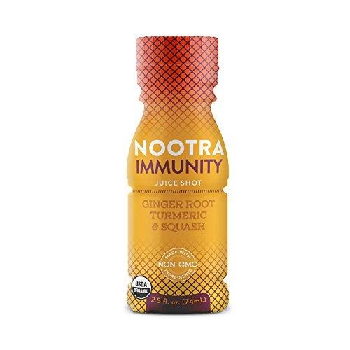 Nootra Immunity Juice Shots - USDA Organic Cold Pressed Vegan 2.5 fl. oz. 24 Pack by Nootra
