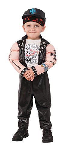 Faerynicethings Child Size Tattooed Muscle Man Biker Baby Costume - Small ()