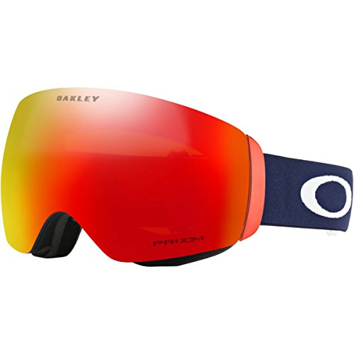 Oakley Flight Deck XM Snow Goggles, USOC Blazing Eagle Frame, Prizm Torch Iridium Lens, - What Lenses Iridium Is