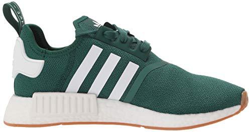 adidas Originals Men's NMD_r1 Sneaker, Collegiate Green/White/Gum, 4