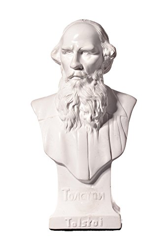 danila-souvenirs Russian Writer Leo (Lev) Tolstoy Marble Bust Statue Sculpture 5.5''