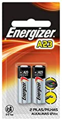These Energizer A23 miniature batteries give reliable power to your keyless-entry devices, garage door openers and more. Energizer delivers long-lasting power to keep even the smallest devices going... and going. Imported.