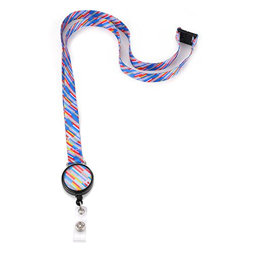 Grekywin Lanyard Keychain, ID Badge Holder, Colorful Card Holder for Business Id/key/cell Phone