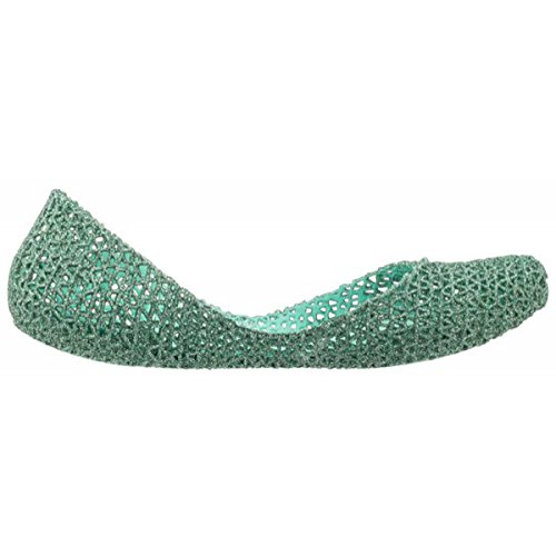 MELISSA CAMPANA PAPEL VII AD 31512 scarpa donna green glitter 52830 MADE IN BRAZIL