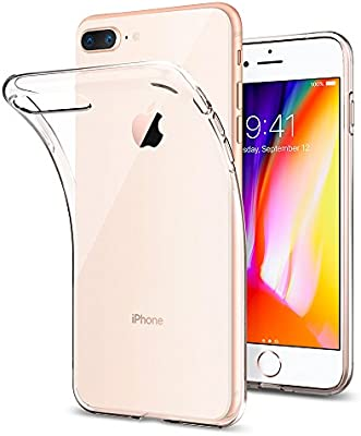 Spigen [Liquid Crystal 043CS20479 Funda iPhone 8 Plus/Funda iPhone 7 Plus con Gel de Silicona Trasparente y Suave para Apple iPhone 8 Plus (2017) / ...