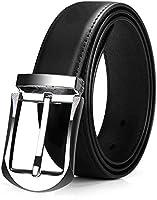 Jack&Chris(ジャックアンドクリス)ベルト メンズ 紳士 ビジネス 革 ブラック おしゃれ カジュアル 高級感 祝いギフトBOX付ブラック110