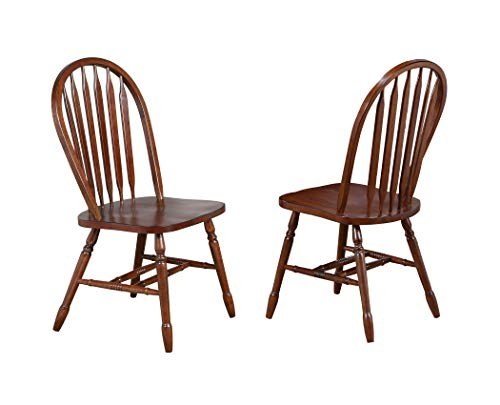 Sunset Trading DLU-820-CT-2 Andrews Dining Chair, Distressed Chestnut ()