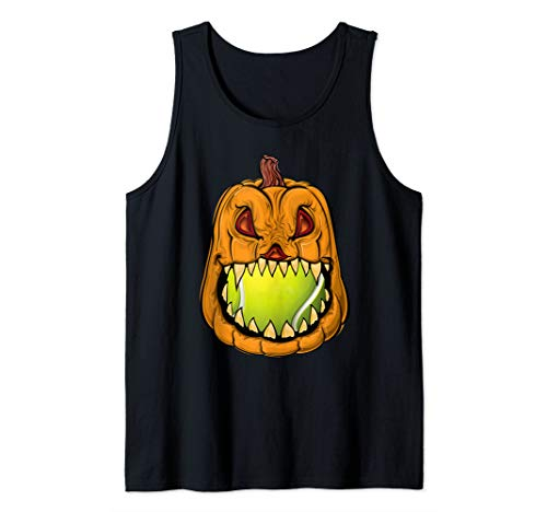 Pumpkin Carving Eat Tennis Ball Halloween Costume Gift  Tank
